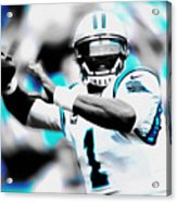 Cam Newton Letting It Fly Acrylic Print
