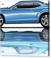 Camaro 2010 Reflects Old Blue Acrylic Print