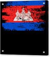Cambodia Shirt Gift Country Flag Patriotic Travel Asia Light Acrylic Print