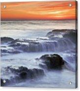 Cambria Coast Sunset Acrylic Print by Nolan Nitschke