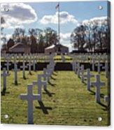 Cambridge American Cemetery Acrylic Print