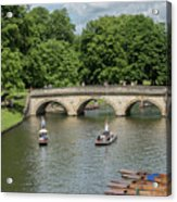Cambridge Punting On The River Acrylic Print