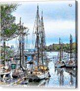 Camden Bay Harbor Acrylic Print