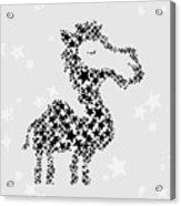 Camel Black Star Acrylic Print