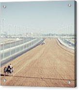 Camel Racing Track In Dubai Acrylic Print