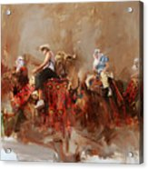 Camels And Desert 14 Acrylic Print
