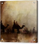 Camels And Desert 18 Acrylic Print
