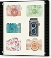 Cameras Of Today And Yesteryear Acrylic Print