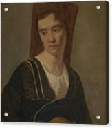 Camille Corot   A Peasant Woman Acrylic Print
