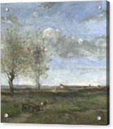 Camille Corot   A Wagon In The Plains Of Artois Acrylic Print