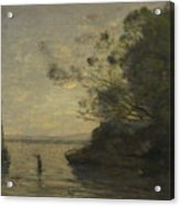 Camille Corot   Evening On The Lake Acrylic Print