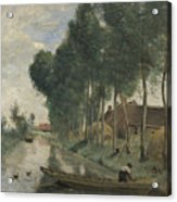 Camille Corot   Landscape At Arleux Du Nord Acrylic Print