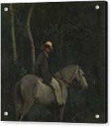 Camille Corot   Monsieur Pivot On Horseback Acrylic Print