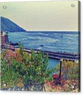 Camogli, Panorama Of The Sea. Acrylic Print