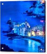 Camogli Sunrise - Camogli All'alba Paint1 Acrylic Print