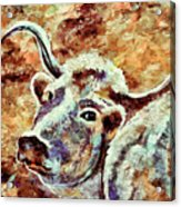 Camouflage Cow Art Acrylic Print