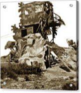 Camouflage Observation Tower Near Asilomar And The Point Pinos Lighthouse 1941 Acrylic Print