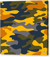 Camouflage Pattern Background Seamless Clothing Print, Repeatabl Acrylic Print