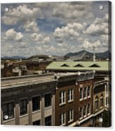 Campbell Avenue Rooftops Roanoke Virginia Acrylic Print