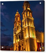 Campeche Cathedral At Evening Acrylic Print