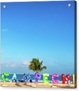 Campeche Sign And Sea Acrylic Print
