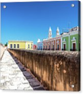 Campeche Wall And City View Acrylic Print