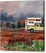 Camper On Pacific Coast Highway Acrylic Print