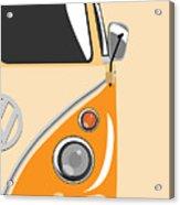 Camper Orange 2 Acrylic Print by Michael Tompsett