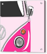 Camper Pink 2 Acrylic Print by Michael Tompsett