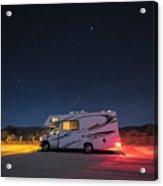 Camper Under A Night Sky Acrylic Print