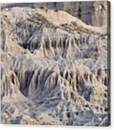 Campers And Eroded Cliffs At Ricardo Acrylic Print