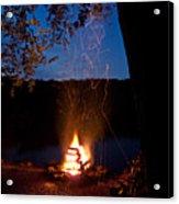 Campfire At Dusk Acrylic Print
