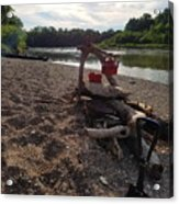 Campfire Cooking Soon - Indiana Canoeing Acrylic Print
