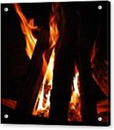 Campfire Acrylic Print by Kimberly Camacho
