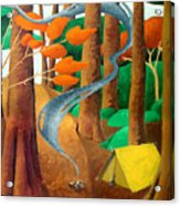 Camping - Through The Forest Series Acrylic Print