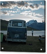 Camping At Torres Del Paine Acrylic Print