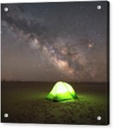 Camping Under The Milky Way Galaxy Acrylic Print