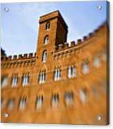 Campo Of Siena Tuscany Italy Acrylic Print by Marilyn Hunt