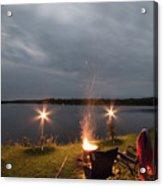 Campsite Lakeside Acrylic Print