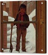 Can I Shovel Off The Snow ? Acrylic Print