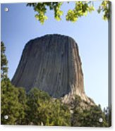 Can You Find The Climbers On Devils Tower Wyoming -1 Acrylic Print
