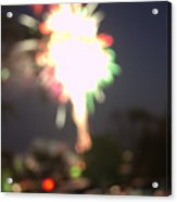 Canada Day 150 Lights 5 Acrylic Print