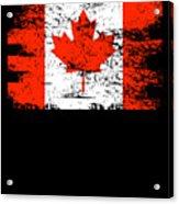 Canada Flag Gift Country Patriotic Travel Shirt Americas Light Acrylic Print