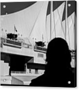 Canada Place Wings Silhouette Acrylic Print