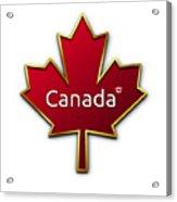 Canada Red Leaf Acrylic Print