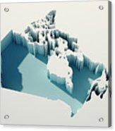 Canada Simple Intrusion Map 3d Render Acrylic Print