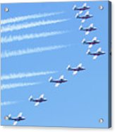 Canadian Air Force Snowbirds Acrylic Print