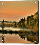 Canadian Autumn Sunrise Acrylic Print