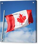 Canadian Flag Flying Proudly Acrylic Print