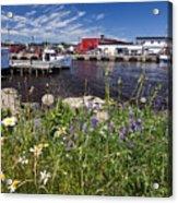Canadian Harbor On A Sunny Day Acrylic Print
